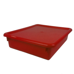 "Red Stowaway® Letter Box with Lid - 13-1/2"" L x 10-1/2"" W x 6"" H"