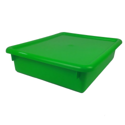 "Green Stowaway® Letter Box with Lid - 13-1/2"" L x 10-1/2"" W x 6"" H"