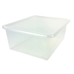 "Clear Stowaway® Letter Box with Lid - 13-1/2"" L x 10-1/2"" W x 6"" Hgt."