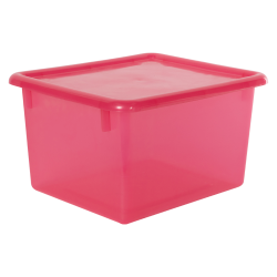 "Strawberry Small Stowaway® Shelf Box with Lid - 10-1/2"" L x 9"" W x 6"" Hgt."