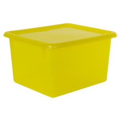 "Lemon Small Stowaway® Shelf Box with Lid - 10-1/2"" L x 9"" W x 6"" H"