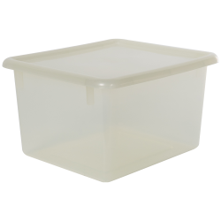 "Clear Small Stowaway® Shelf Box with Lid - 10-1/2"" L x 9"" W x 6"" Hgt."