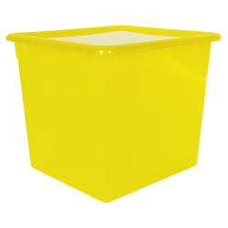 "Lemon Large Stowaway® Shelf Box with Lid - 12"" L x 11"" W x 10-1/4"" Hgt."