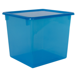 "Blueberry Large Stowaway® Shelf Box with Lid - 12"" L x 11"" W x 10-1/4"" Hgt."