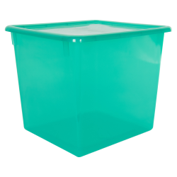 "Lime Large Stowaway® Shelf Box with Lid - 12"" L x 11"" W x 10-1/4"" Hgt."
