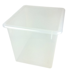 "Clear Large Stowaway® Shelf Box with Lid - 12"" L x 11"" W x 10-1/4"" Hgt."