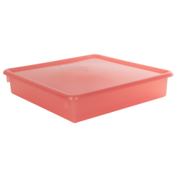 "Strawberry Stowaway® Scrap Box with Lid - 15"" L x 15"" W x 3"" Hgt."
