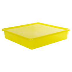 "Lemon Stowaway® Scrap Box with Lid - 15"" L x 15"" W x 3"" Hgt."
