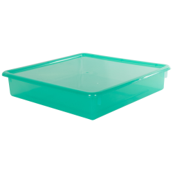 "Lime Stowaway® Scrap Box with Lid - 15"" L x 15"" W x 3"" Hgt."