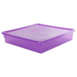"Grape Stowaway® Scrap Box with Lid - 15"" L x 15"" W x 3"" Hgt."