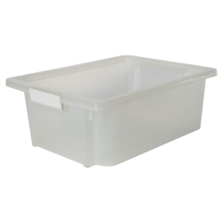 Clear Stow 'N' Tell ® HD Nest Stacking Bin - 16-1/4