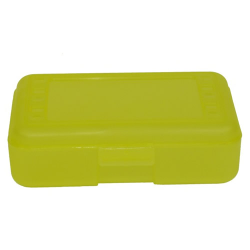 "Lemon Pencil Boxes - 8.5"" L x  5.5"" W x 2.5"" Hgt."