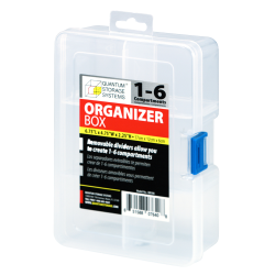 1-6 Compartment Clear Storage Box with Blue Latch