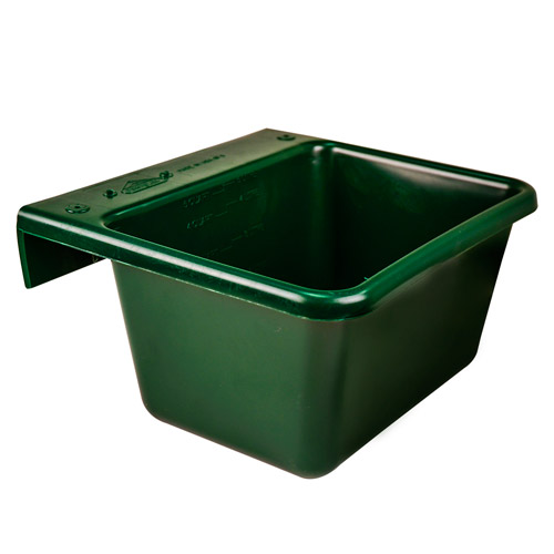 5 Quart Hunter Green Hook Over The Fence Container