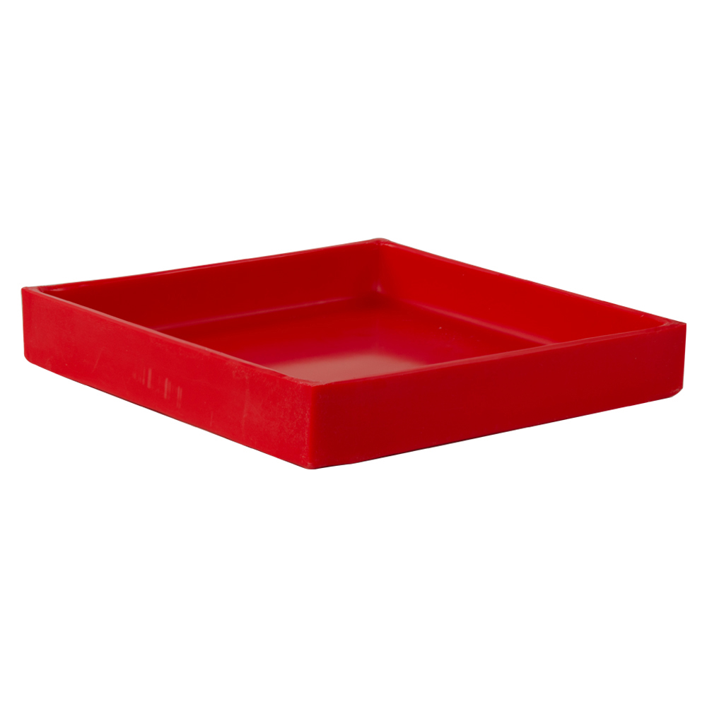 """10-3/8"""" L x 10-3/8"""" W x 1-1/2"""" Hgt. Red Tamco® Tray"""