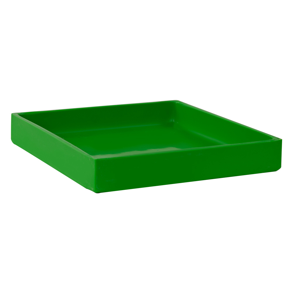 "10-3/8"" L x 10-3/8"" W x 1-1/2"" Hgt. Green Tamco® Tray"