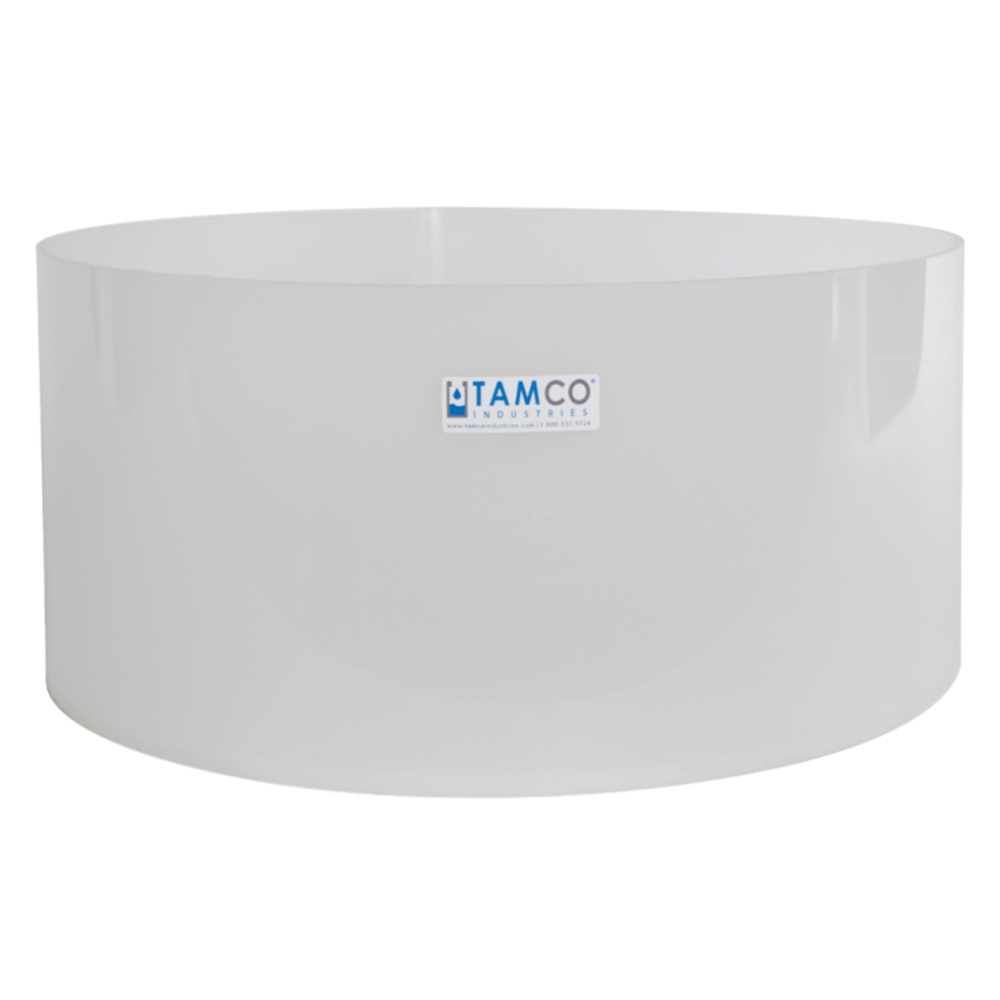"18"" Dia. x 8"" Hgt. Polypropylene Fabricated Tamco® Tray (Cover Sold Separately)"