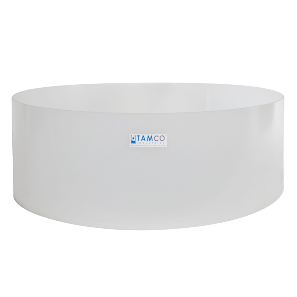 "24"" Dia. x 8"" H Polypropylene Fabricated Tray (Cover Sold Separately)"