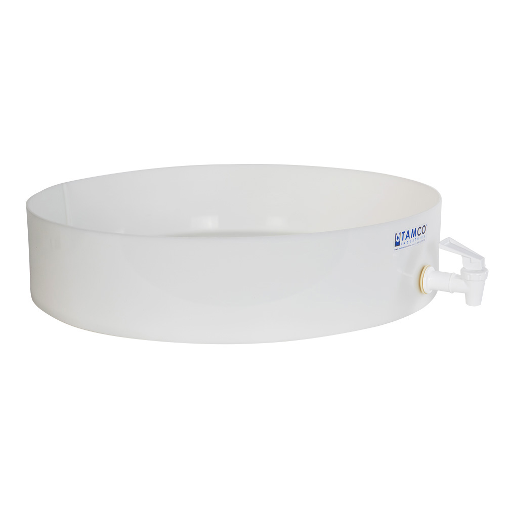 """18"""" Dia. x 4"""" Hgt. Tamco® HDPE Fabricated Round Tray with Spigot (Cover Sold Separately)"""