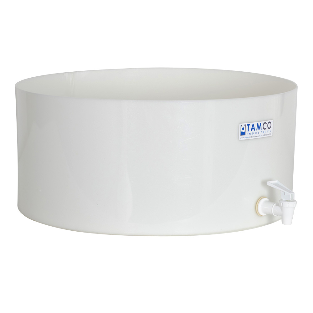 "18"" Dia. x 8"" H Tamco® HDPE Fabricated Round Tray with Spigot (Cover Sold Separately)"