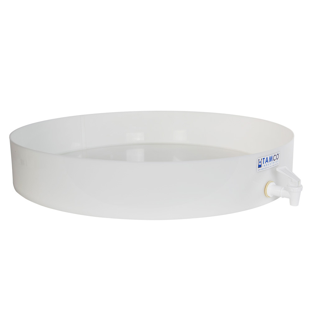 "24"" Dia. x 4"" H Tamco® HDPE Fabricated Round Tray with Spigot (Cover Sold Separately)"