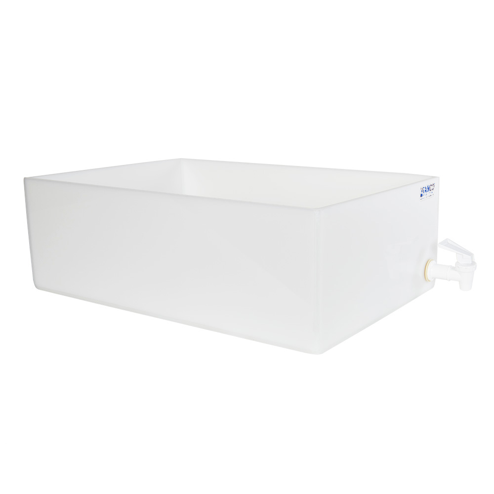 "12"" L x 18"" W x 6"" H Tamco® HDPE Fabricated Tray with Spigot (Cover Sold Separately)"