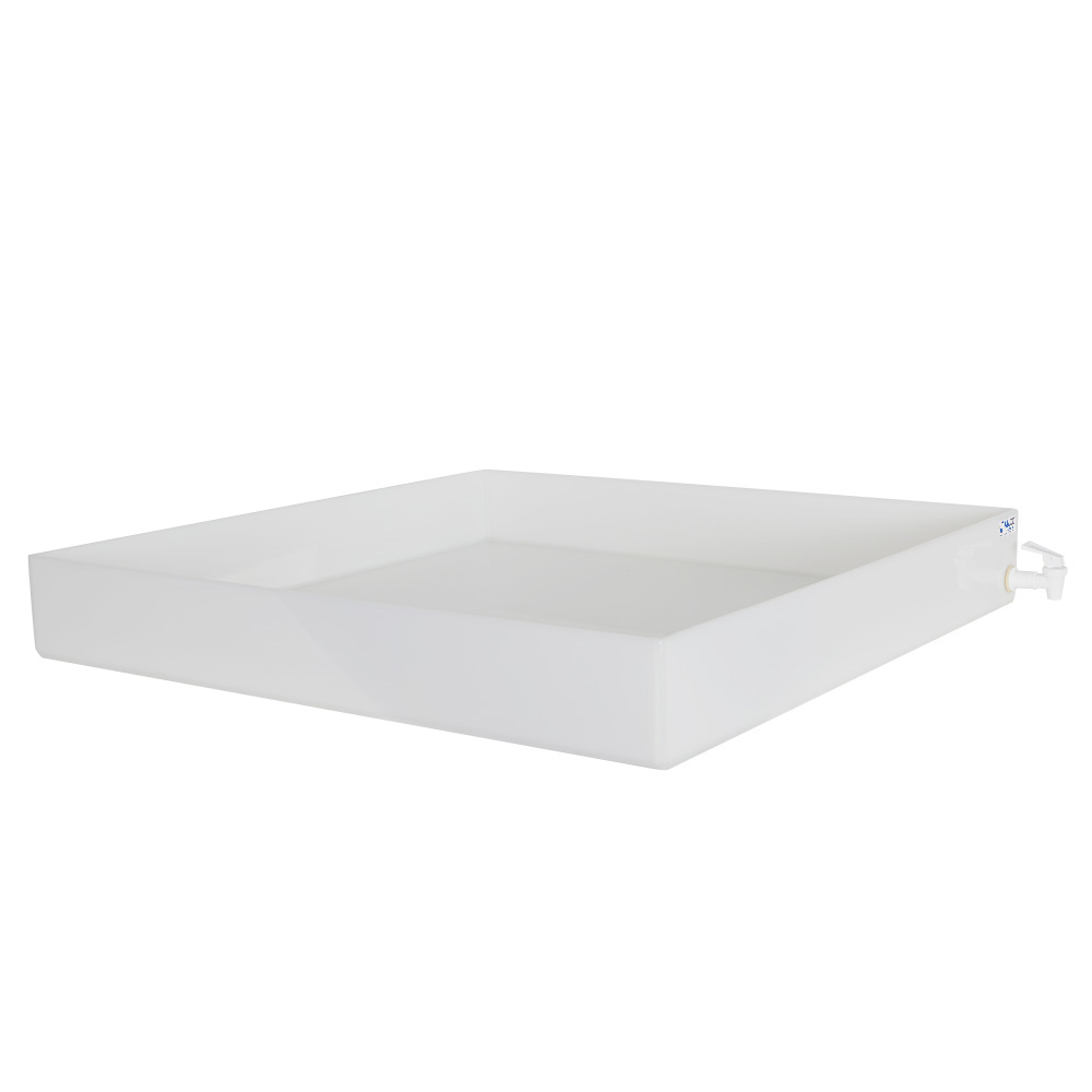"""30"""" L x 30"""" W x 4"""" H Tamco® HDPE Fabricated Tray with Spigot (Cover Sold Separately)"""
