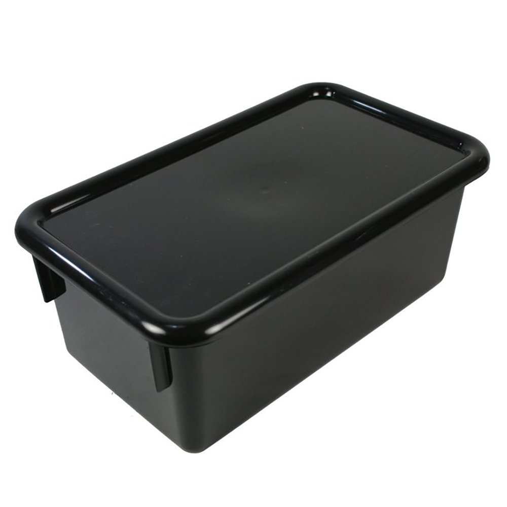 """Black Stowaway® Box with Lid - 8"""" L X 13-1/2"""" W X 5-1/2"""" H"""