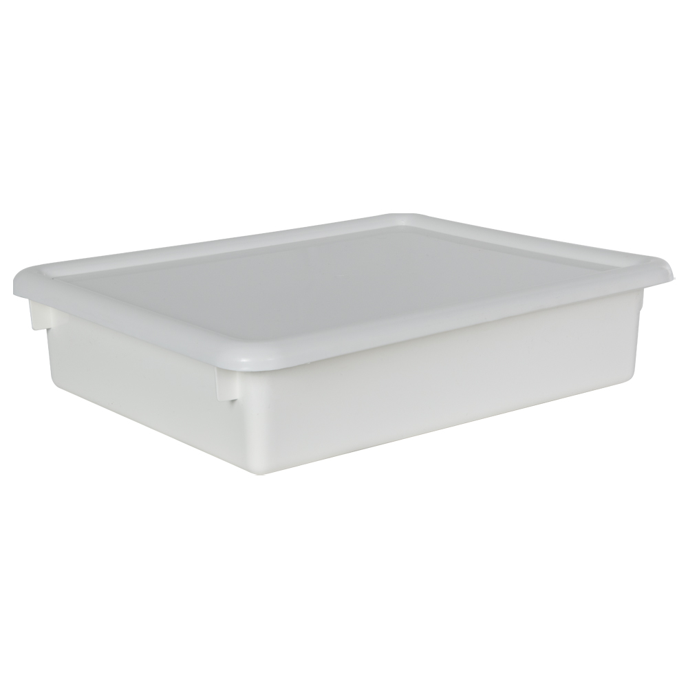 "White Stowaway® Letter Box with Lid - 13-1/2"" L x 10-1/2"" W x 3"" H"