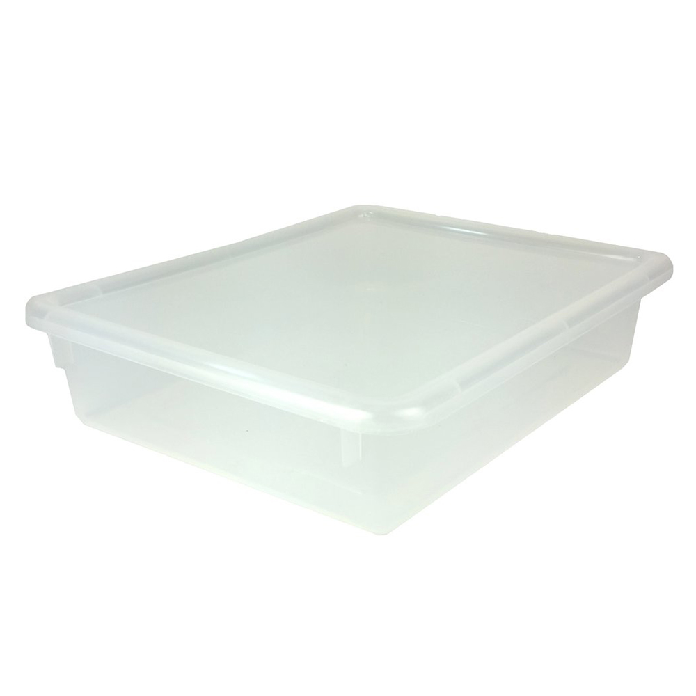 """Clear Stowaway® Letter Box with Lid - 13-1/2"""" L x 10-1/2"""" W x 3"""" H"""