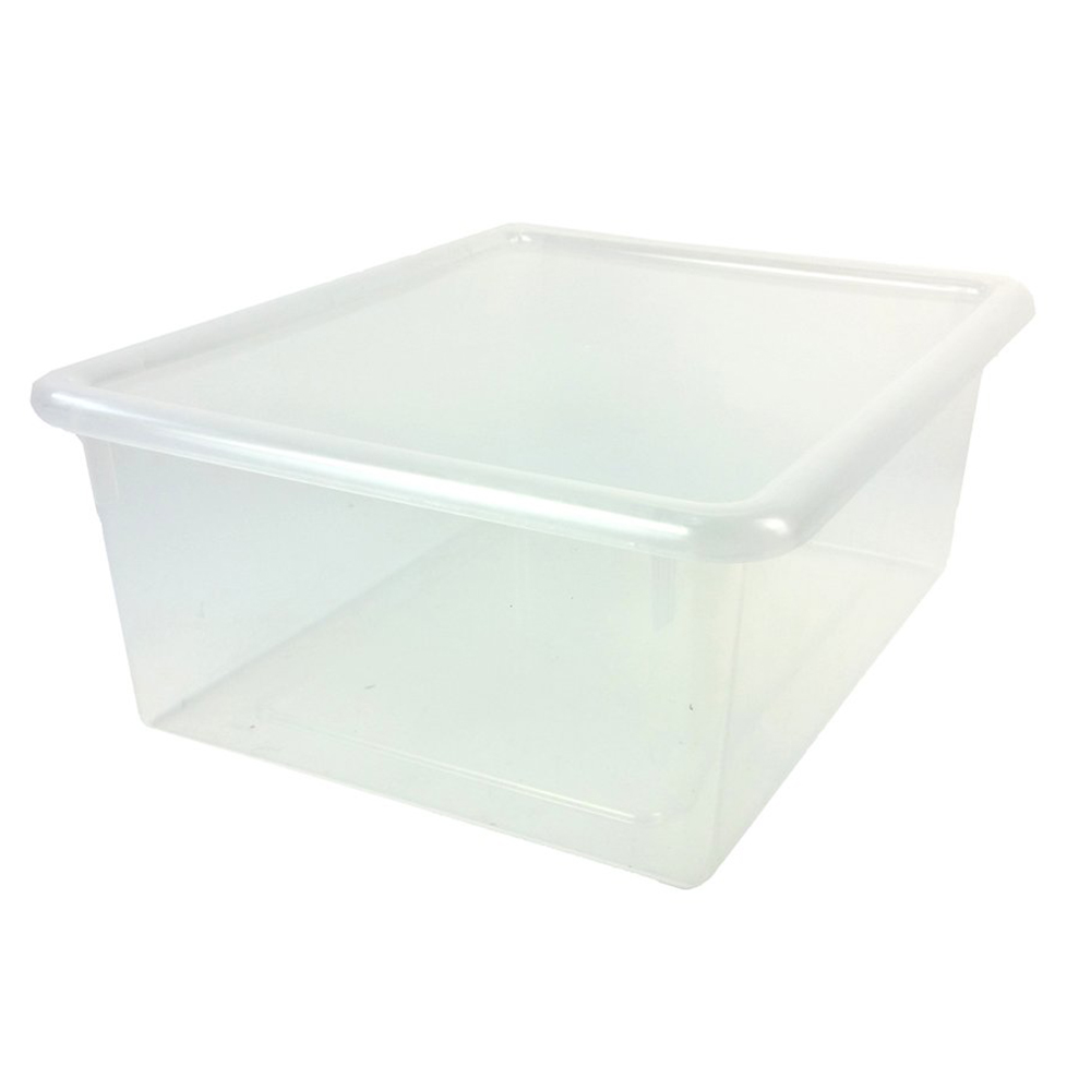 """Clear Stowaway® Letter Box with Lid - 13-1/2"""" L x 10-1/2"""" W x 6"""" Hgt."""