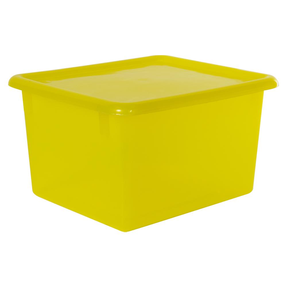 "Lemon Small Stowaway® Shelf Box with Lid - 10-1/2"" L x 9"" W x 6"" Hgt."