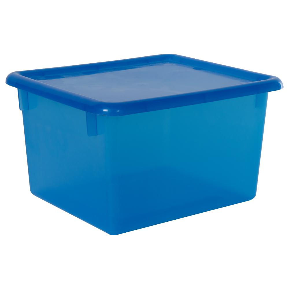 "Blueberry Small Stowaway® Shelf Box with Lid - 10-1/2"" L x 9"" W x 6"" Hgt."
