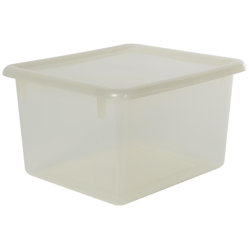 """Clear Small Stowaway® Shelf Box with Lid - 10-1/2"""" L x 9"""" W x 6"""" Hgt."""