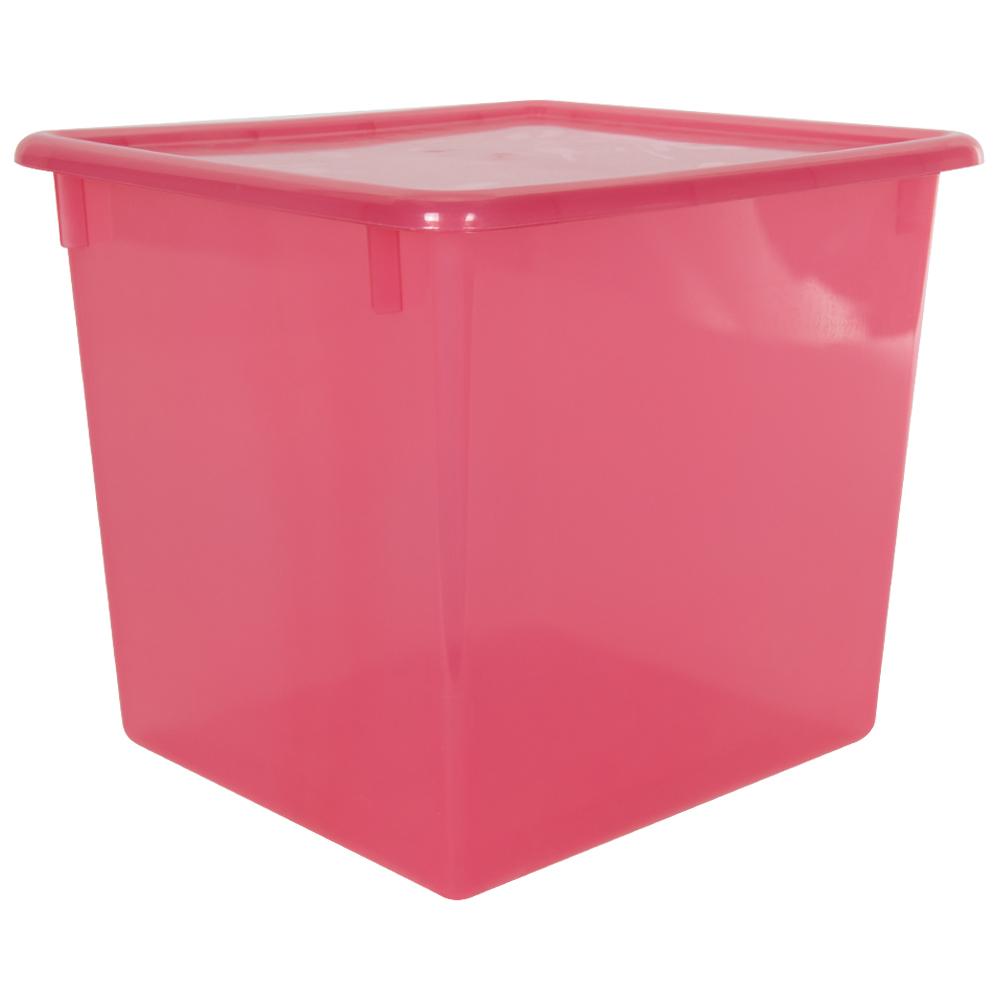 """Strawberry Large Stowaway® Shelf Box with Lid - 12"""" L x 11"""" W x 10-1/4"""" Hgt."""