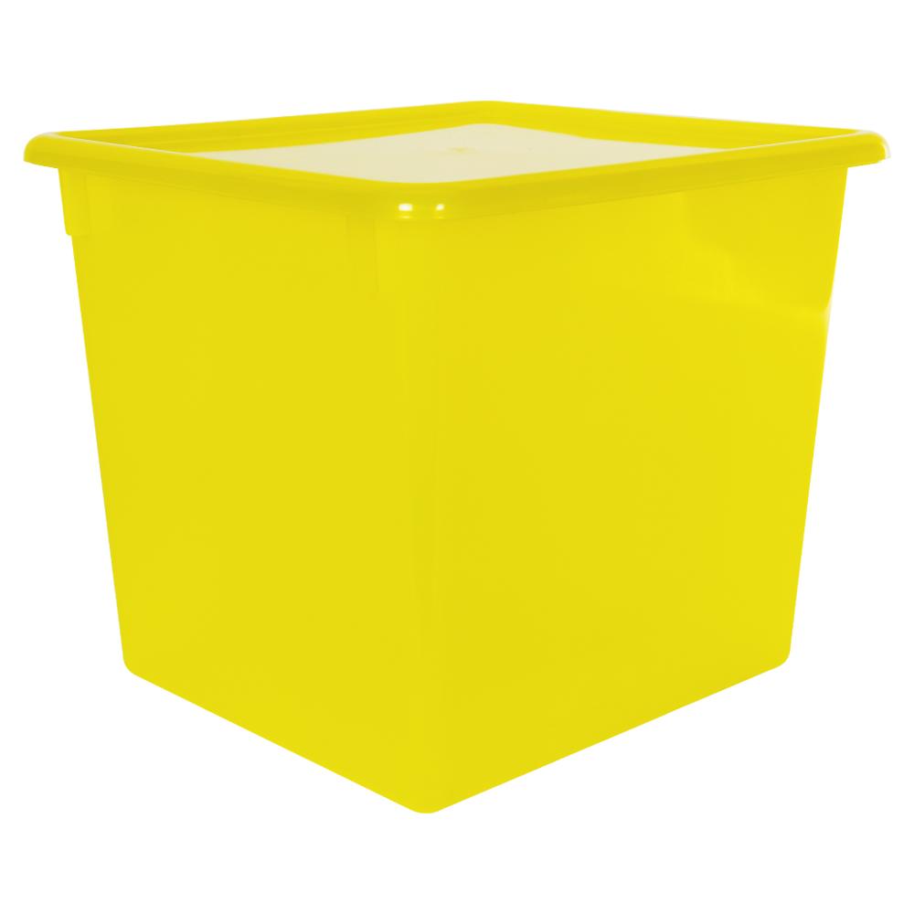 "Lemon Large Stowaway® Shelf Box with Lid - 12"" L x 11"" W x 10-1/4"" Hgt."