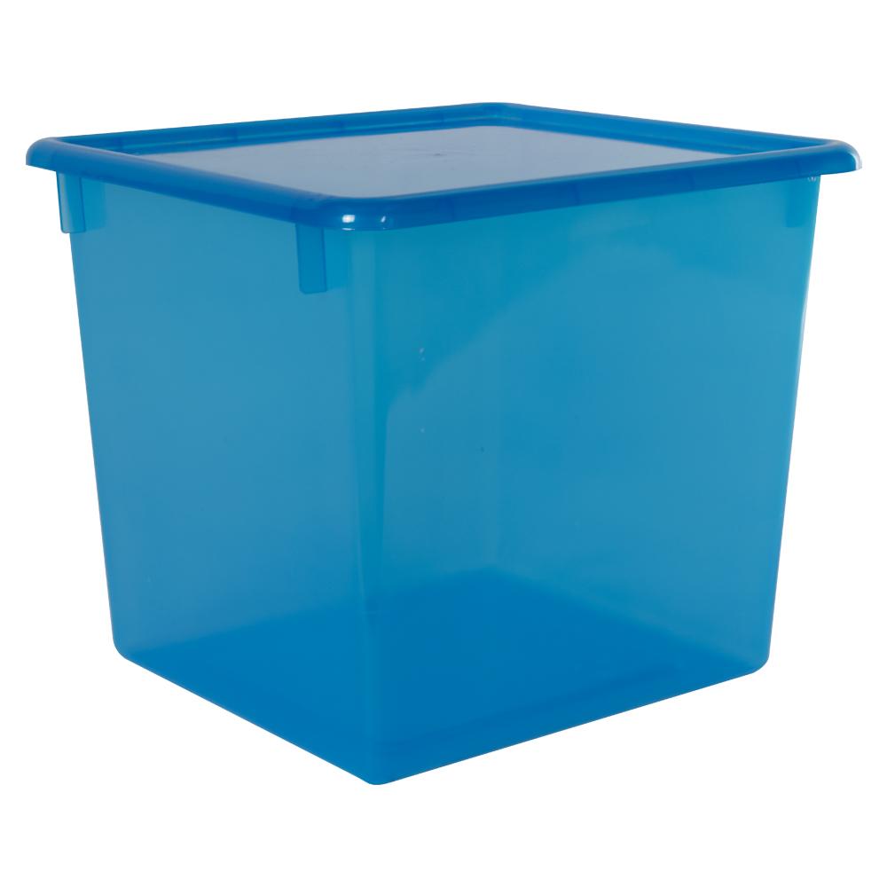 "Blueberry Large Stowaway® Shelf Box with Lid - 12"" L x 11"" W x 10-1/4"" Hgt."