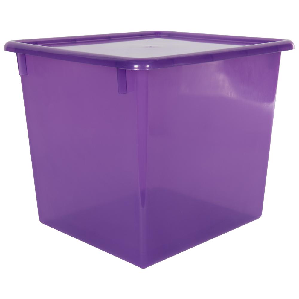 "Grape Large Stowaway® Shelf Box with Lid - 12"" L x 11"" W x 10-1/4"" H"