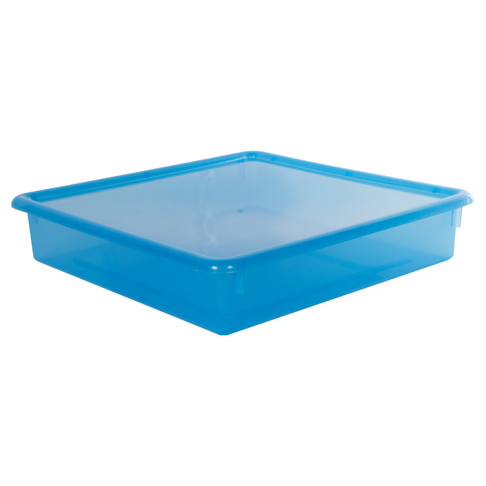 "Blueberry Stowaway® Scrap Box with Lid - 15"" L x 15"" W x 3"" Hgt."