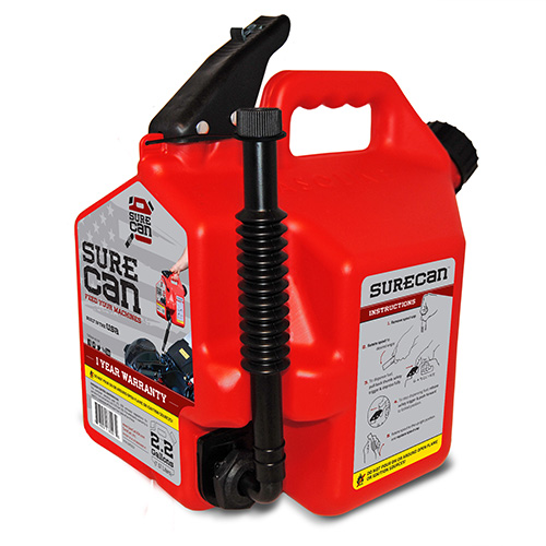 2.2 Gallon Red Gasoline SureCan