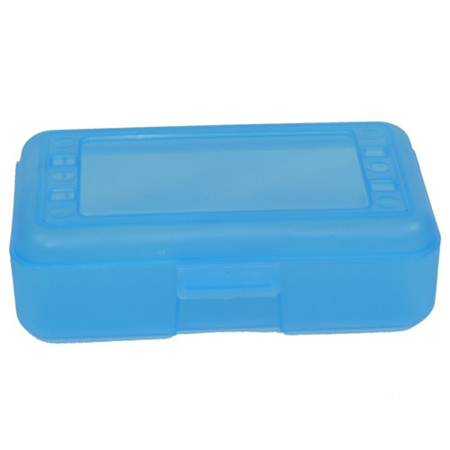"Blueberry Pencil Boxes - 8.5"" L x  5.5"" W x 2.5"" Hgt."