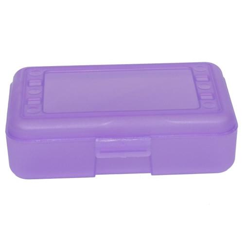"""Grape Pencil Boxes - 8.5"""" L x  5.5"""" W x 2.5"""" Hgt."""