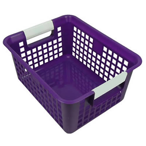 Purple Book Basket