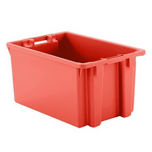 """2 Cu. Ft. Red Stack & Nest Container - 23"""" L x 15"""" W x 12"""" Hgt."""
