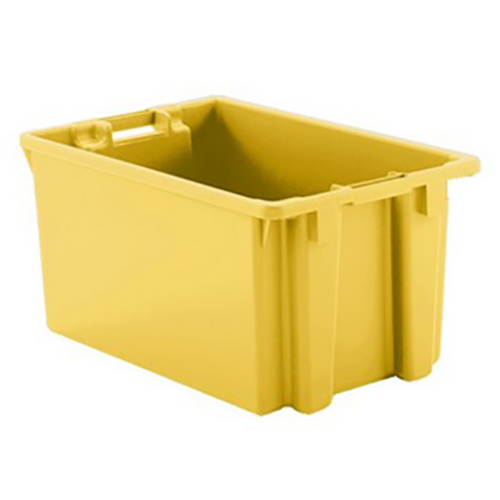 """2 Cu. Ft. Yellow Stack & Nest Container - 23"""" L x 15"""" W x 12"""" Hgt."""
