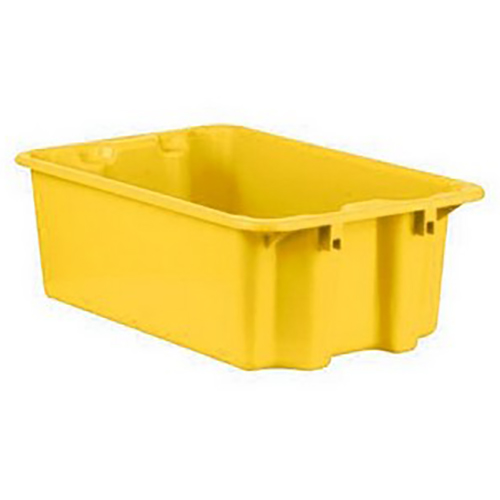 """1.1 Cu. Ft. Yellow Stack & Nest Container - 23"""" L x 15"""" W x 8"""" Hgt."""
