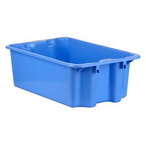 """1.1 Cu. Ft. Blue Stack & Nest Container - 23"""" L x 15"""" W x 8"""" Hgt."""