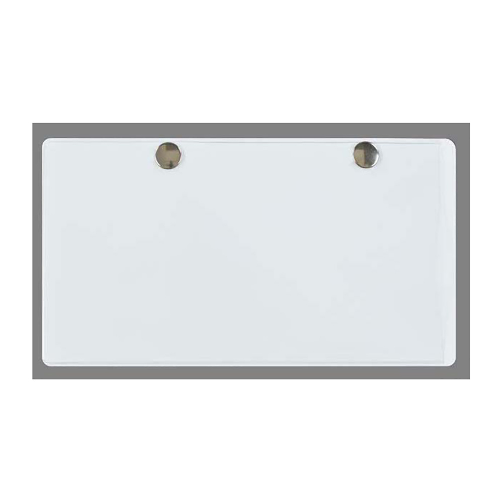 """Clear Vinyl Card Holder with Snaps for 7-1/4"""" x 3-1/2"""" Cards"""