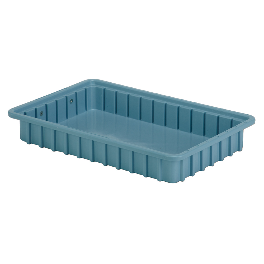 """16-1/2"""" L x 10-7/8"""" W x 2-1/2"""" Hgt. Light Blue Divider Box"""