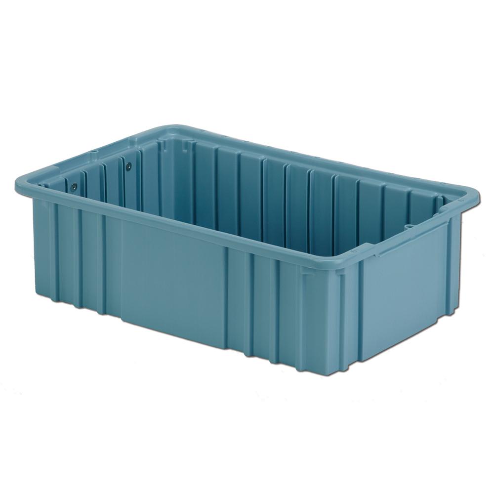 """16-1/2"""" L x 10-7/8"""" W x 5"""" Hgt. Light Blue Divider Box"""